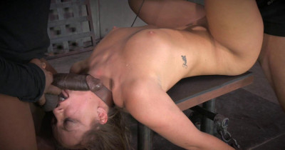 All natural redhead Maddy O'Reilly shackled down
