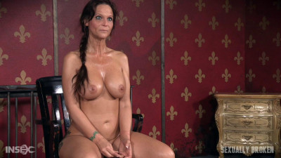 Hot Cougar is bound, face fucked and made to cum over and over. Brutal deep throat, massive orgasms!