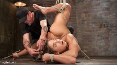19 Year Old Rope Slut Suffers in Extreme Bondage