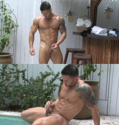 Solo masturbation muscular gay