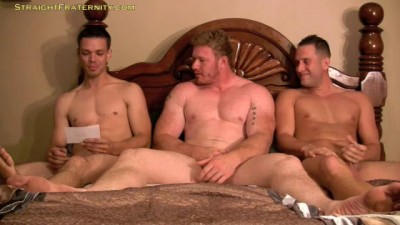 Straight Fraternity - Gay Chicken 7: Luke, Dane and Aiden