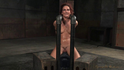 Redhead Savannah Fox chained sybian deepthroated into drooling mess multiple orgasms! (2015)