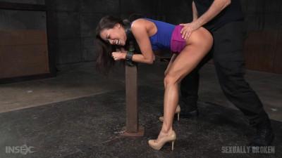 Asian fuck doll Kalina Ryu shackled down blindfolded fucked hard cock! (2015)