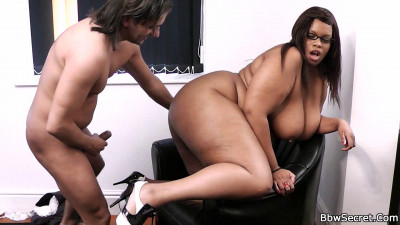 Cookie, his secretary, a big, voluptuous black girl with a cute face