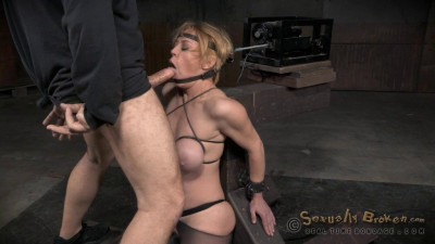 Big Titted Hardbody Blonde Darling Brutally Facefucked Machine Massive Orgasms (2015)