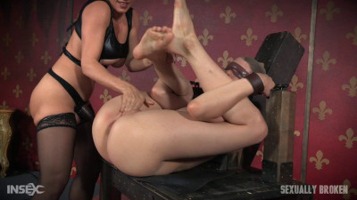 Bendy Zoey Laine is roughly double fucked to massive squirting orgasms!