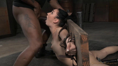 Sexy Aria Alexander Bound In Brutal Back Arch And Throatboarded With Punishing Deepthroat On BBC