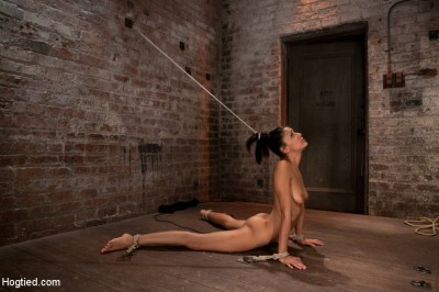 Severely Arched, Nipples Stretched, Vibrator Locked Into Place, Brutal Deep Throat Sucking And Orgasms