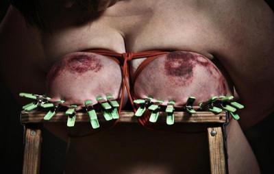 Big tits in good torture