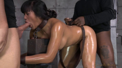Hot Filipina Mia Li Is Bound, Oiled, Brutally Face Fucked And Drilled With Cock