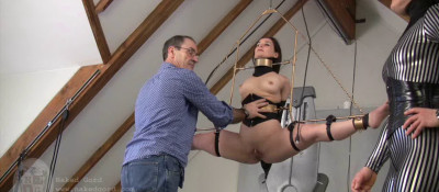This Time They Was Tied Up On A Long Chair With Rope And Balllgag