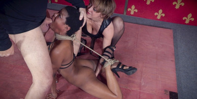 Sexy Cutie Kahlista Back For Live Throat Fucking In Intense Rope Bondage