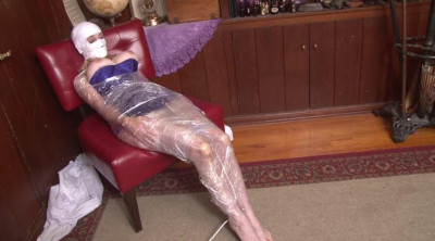 Bound And Gagged – Mummification Orgasm With Headwrap – Lorelei