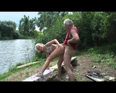 Hard fuck by a lake