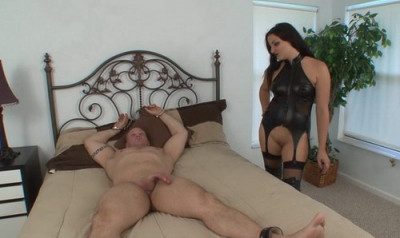 Mistress Michelle Uses Cock To Cum Edges Slave