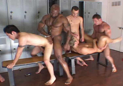 Amazing Interracial Gangbang