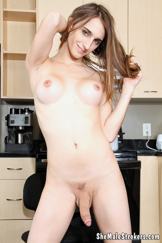 Kelly Klaymour Sexy Trans Girl Gets Dirty To Clean Your Cock!