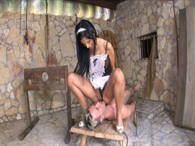Black Angelika is the hottest maid ever