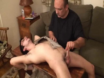 Distracted Handjob for a Desperate Houseboy