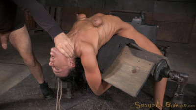 SexuallyBroken - Jun 03, 2015 - Flexible London River bound to a sybian in a brutal backarch