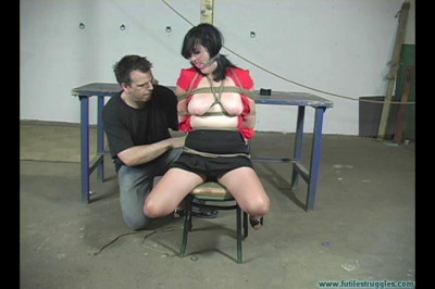 Dixie the Lazy Housewife Punished with Tight Gags and Crotchrope - Part 1