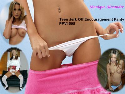 Monique Alexander Teen Jerk Off Encouragement Panty