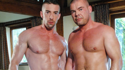 Jake Lewis with Scott Hunter