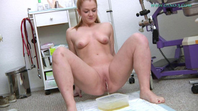 Alex Ginger (19 years girl gyno exam)