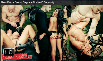 Sexualdisgrace — May 04, 2016 - Alexa Pierce Sexual Disgrace Double D Depravity