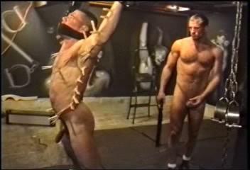 Master Branch humiliates his helpless slave through domination, tight bondage