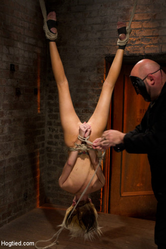 Tiny Southern Belle Hung Upside Down, Clamped, Flogged, Her Huge Nipples Tortured, Made To Cum Hard