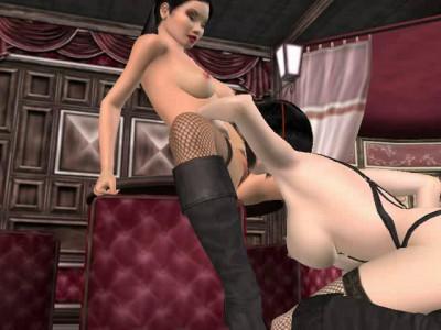 3d Lesbians And Sex Machine