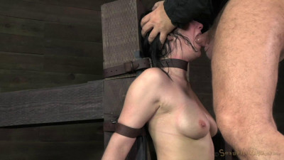 Pretty Veruca James Utterly Destroyed By Brutal Deep Throat! Throat Boarded On A Sybian!
