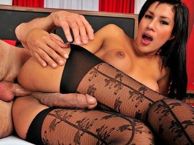 Sexy Shemale In Pantyhose Fucked