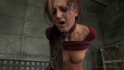 Brunette newbie Kendra Cole is chained down brutal pounding deepthroat hard cocks! (2014)