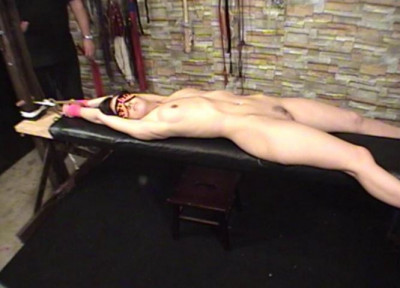 TB - Elise Bench Tied and Flogged