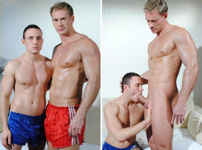 2 SPORTY MUSCLE STUDS FUCKING AFTER THE GYM