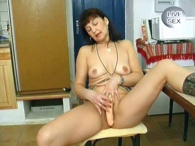 Mature woman stripping