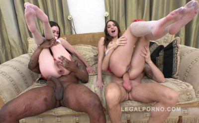 Amazing gape farting sluts in rough anal gangbang