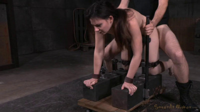 Amy Faye Bent Over And Bound Doggystyle, Vibrated To Orgasm With Brutal Deepthroat