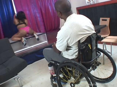 Stripper Tiffany Stacks Takes Care Of A Wheelchair-Bound John