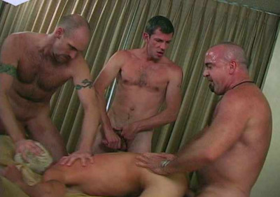Hard Gangbang With Mature Bears