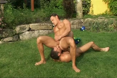 Hot Guy To Guy Sex In The Garden