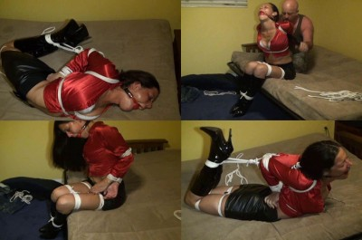 HuntersLair - Dizdat's head bitch endures a brutal chicken wing hogtie