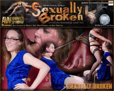 Sensation Slut Sierra Cirque bound on her knees and brutally face fucked!