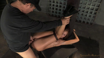 Kendra Cole belt down, chained and roughly fucked by big cock
