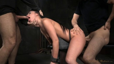 Jennifer White shackled down and roughly fucked