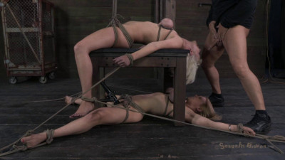Amazing Double Category 5 Back Breaking Suspension, Double Deep Face Fucking, Extreme Orgasms
