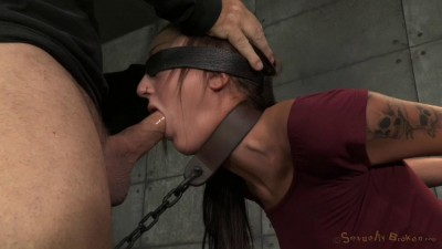 Brunette Newbie Kendra Cole Is Chained Down With Brutal Pounding Deepthroat By 2 Hard Cocks