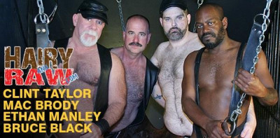 HairyAndRaw - Bruce Black, Mac Brody, Ethan Manley and Clint Taylor
